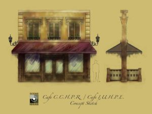 Custom Built Scenery: BCEM - French Bistro Concept