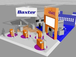 Custom Built Displays: Levy - Baxter Booth Rendering