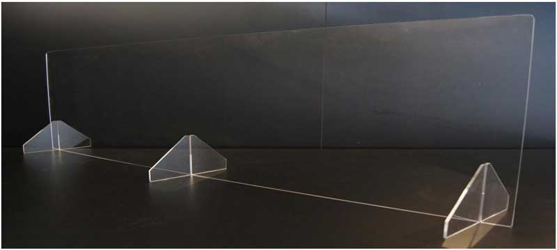 Countertop Sneeze Guard Barriers - Style 4