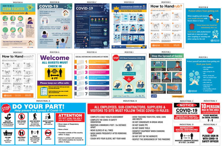 Coronavirus / Covid-19 Informative and Industrial Posters