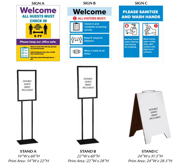 Business Signs and Sign Stands - 3 Options