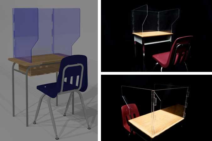 student desk barriers